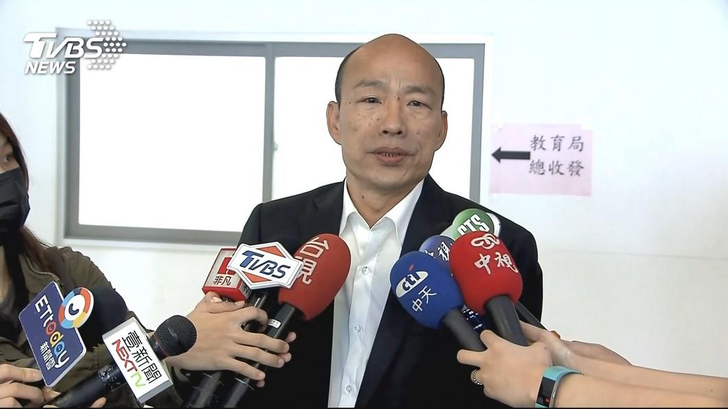 高雄市長韓國瑜。圖/TVBS 爆料韓國瑜逼吳敦義徵召 他道歉:願當半年高雄免費志工