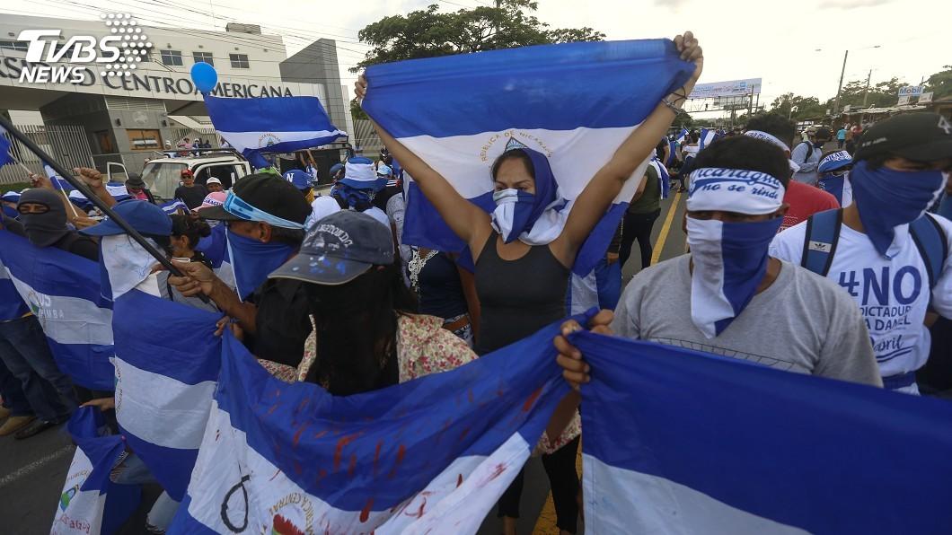 圖/達志影像美聯社 無視禁令紀念血腥抗議週年 尼加拉瓜67人被捕