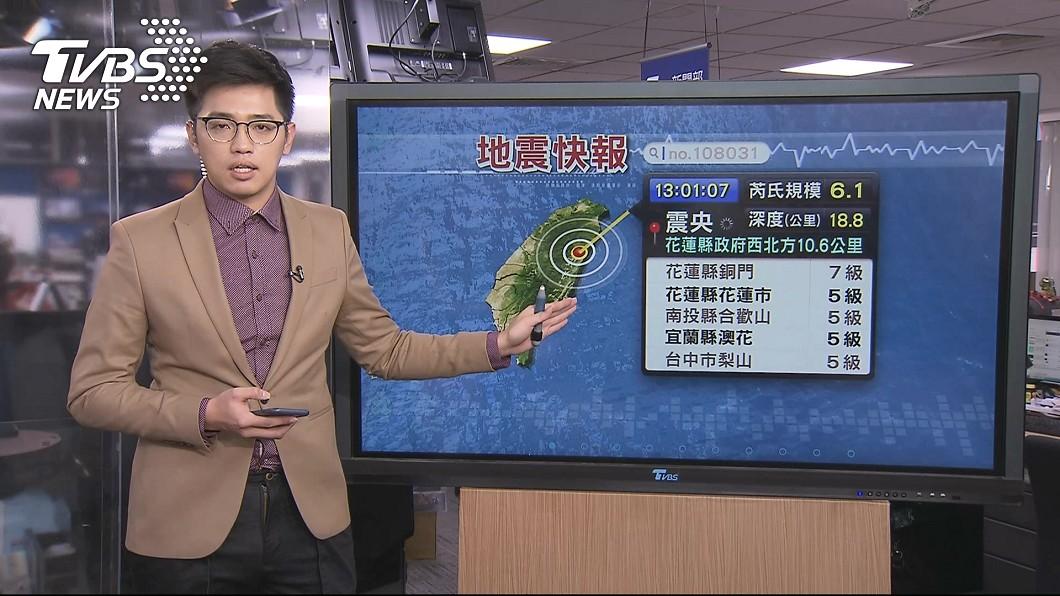 圖/TVBS 6.1強震!台北「盆地效應」狂搖 恐有規模5以上餘震