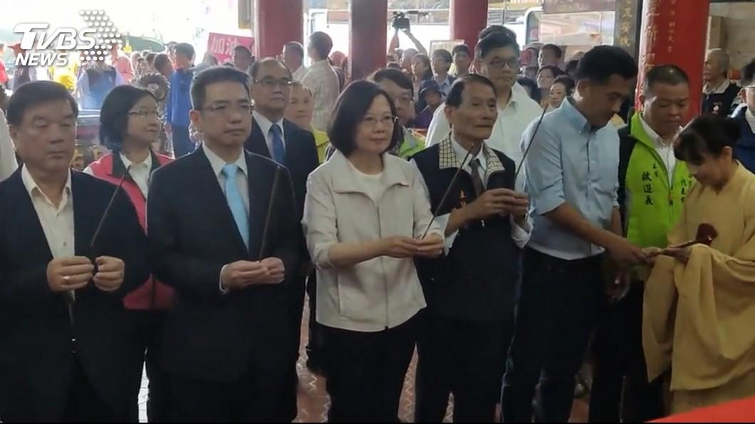 圖/TVBS 「民調會讓黨分裂」 蔡英文拜宜蘭媽祖:不需要被託夢