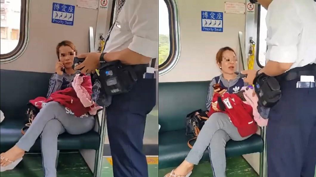 圖/翻攝自 臉書 台鐵逃票被查獲 越女嗆車長「嘰嘰喳喳什麼」