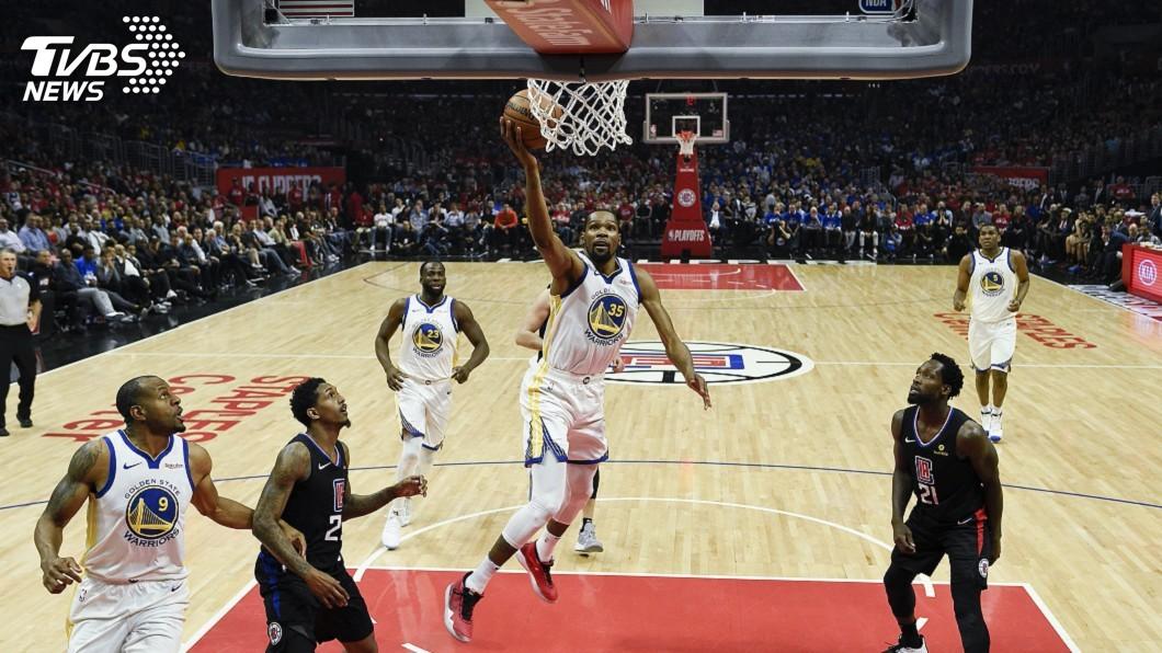 圖/達志影像路透社 杜蘭特飆38分 NBA勇士季後賽大破快艇