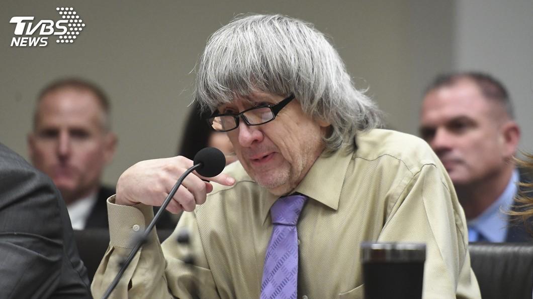 圖/達志影像美聯社 加州夫婦虐囚13子女 淚崩法庭判無期徒刑