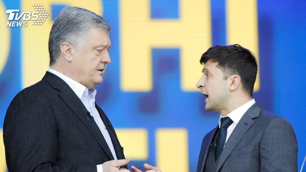 圖/達志影像美聯社 諧星舌戰總統! 烏克蘭二輪投票前大對決