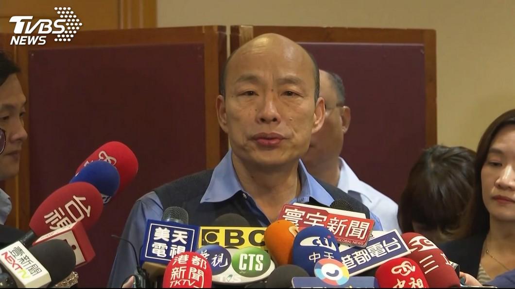 圖/TVBS 聲明稿不拖過周五! 韓國瑜:希望內容讓多數人滿意