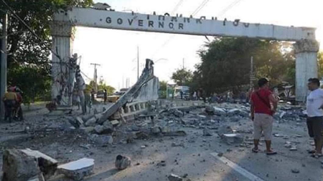 圖/翻攝自CNN Philippines 6.3強震菲律賓天搖地動 6死50傷機場關閉