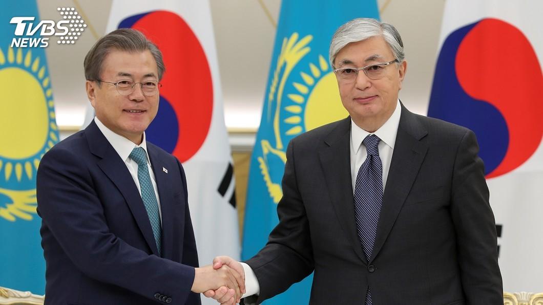 圖/達志影像路透社 文在寅訪哈薩克 前總統支持朝鮮半島非核化