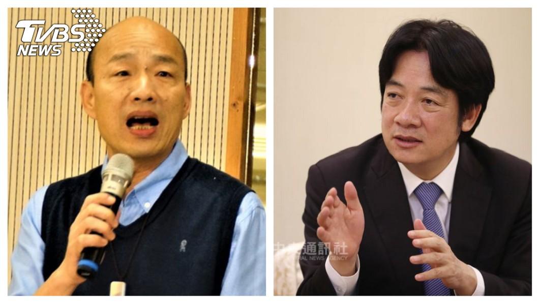 高雄市長韓國瑜(左)23日發表5點聲明,提到「此時此刻無法參加現行制度初選」、「對中華民國的發展及守護願負起責任」。外界解讀「韓國瑜間接表態參選2020」。右為表態參加民進黨初選的前行政院長賴清德。  【觀點】「政黨民主」與「民心」真正的距離