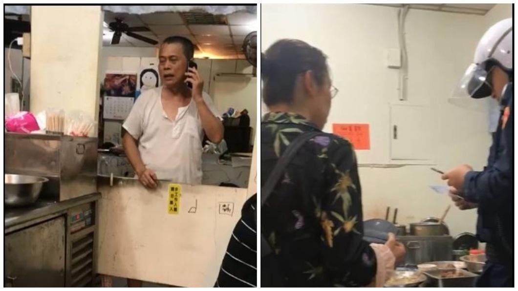 老闆最後報警處理,該名陸籍女子才肯離開。(圖/翻攝自爆料公社)