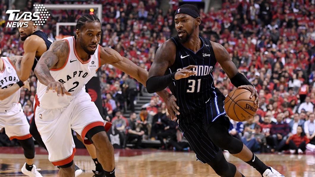 圖/達志影像路透社 雷納德27分 NBA暴龍勝魔術闖季後賽次輪