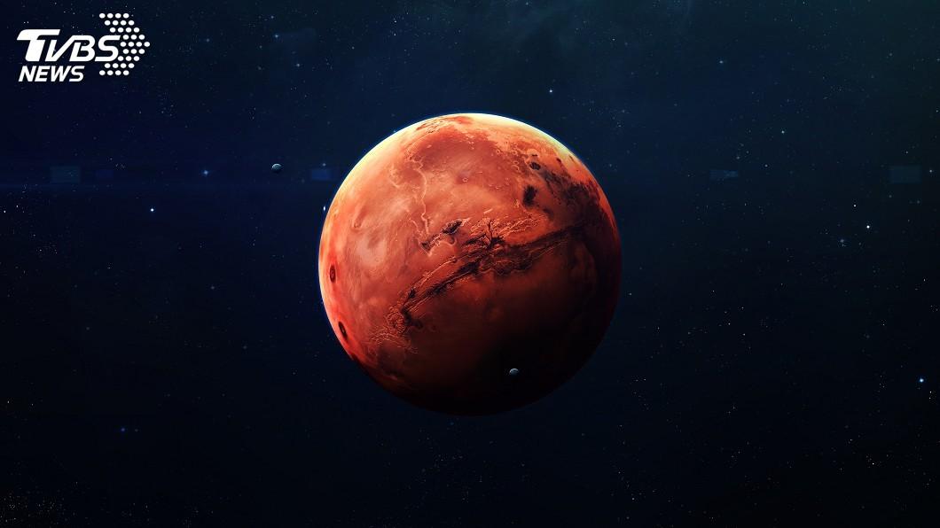 示意圖/TVBS 紅色星球心跳了! 探測器首次偵測到「火星地震」