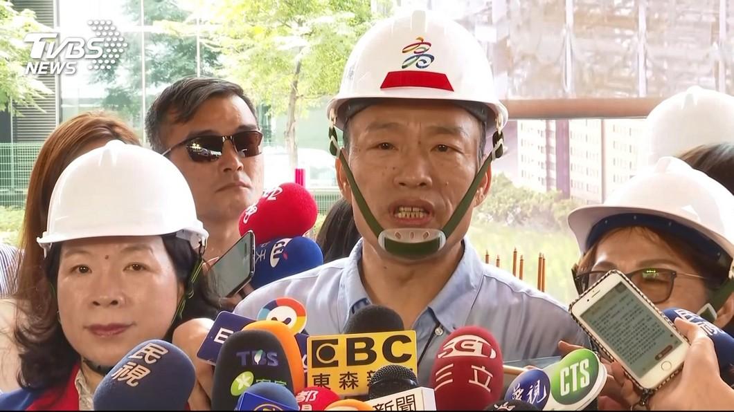 圖/TVBS 我聲明已經都說了! 「韓」連兩天標準答案