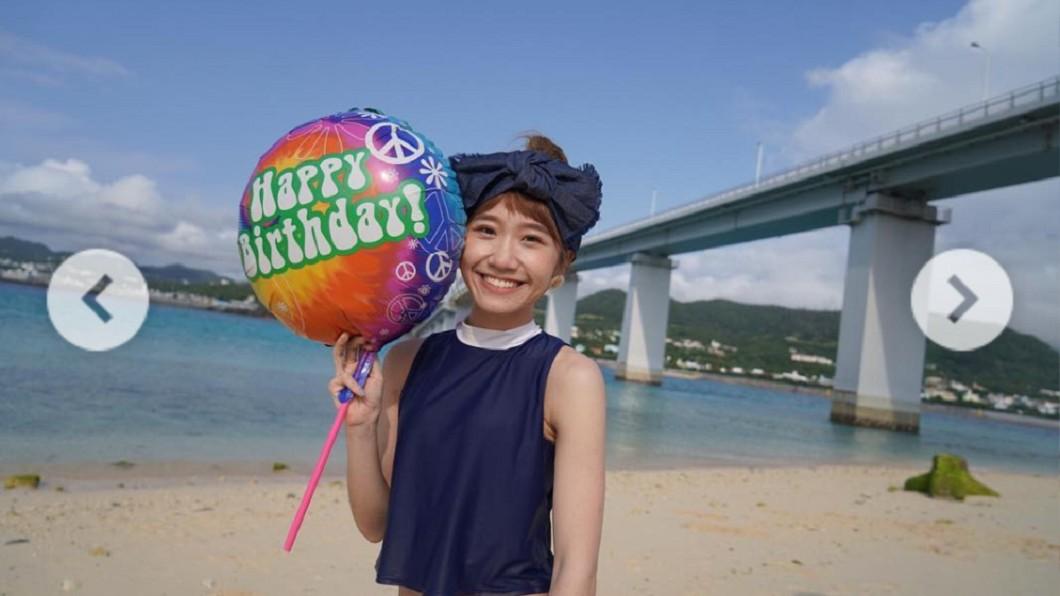 在沖繩度過開心的生日。圖/翻攝自Lulu Instagram