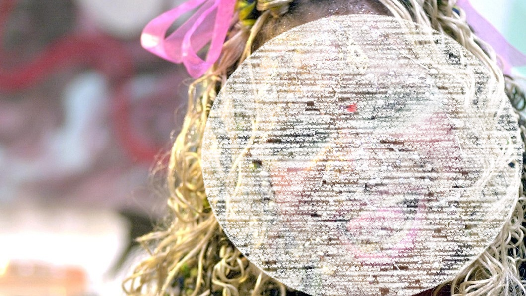 伊萊恩光是臉上就有192個穿孔。圖/達志影像美聯社 全身穿孔逾7千個! 「最醜新娘」爽嫁富豪