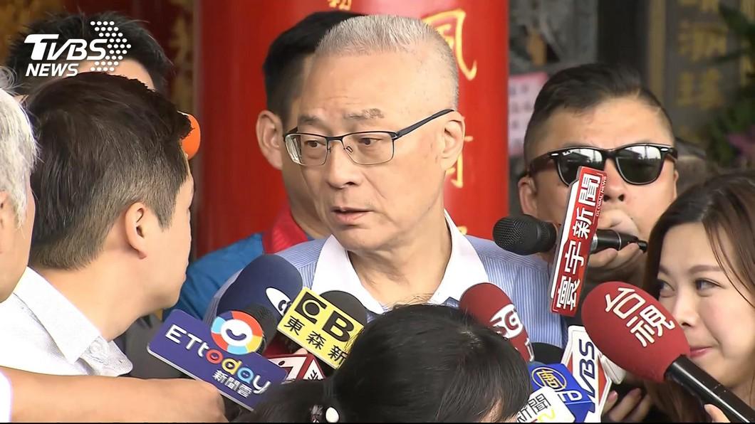 圖/TVBS 總統是否兼黨魁? 吳敦義:承擔是光榮、卸下是輕鬆
