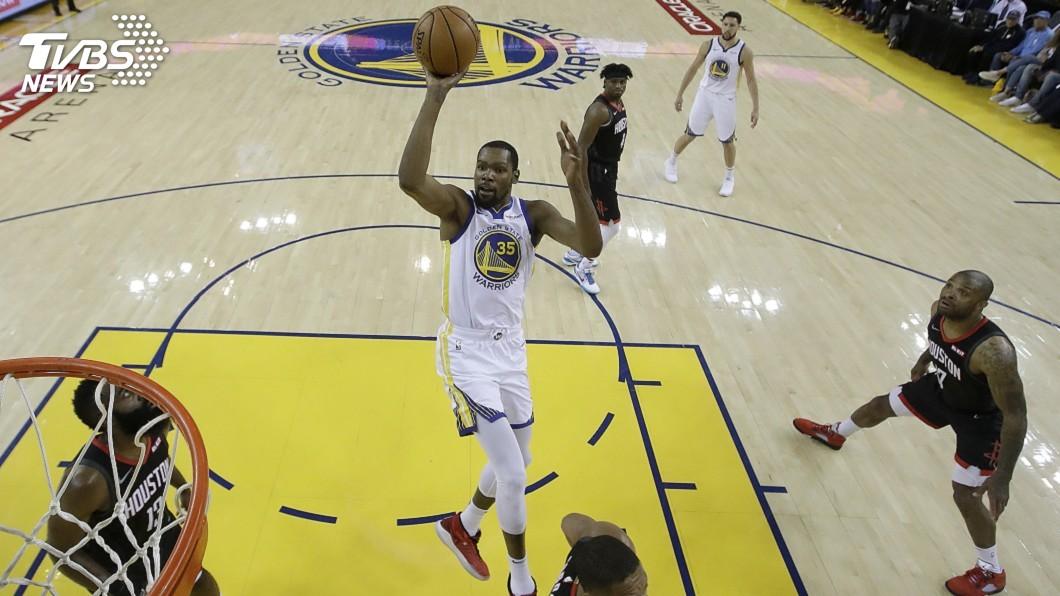 圖/達志影像美聯社 NBA西區準決賽首戰 杜蘭特35分率勇士擊退火箭