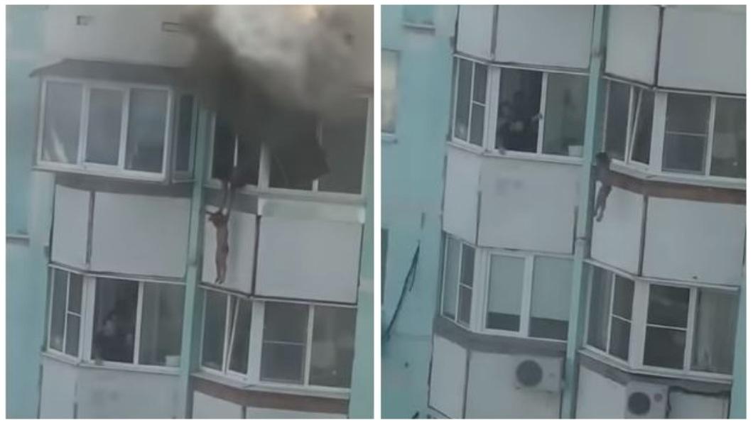 俄羅斯日前發生一起悲劇,一名母親把3歲兒子拋下樓希望有人接住,自己再跟著跳下,無奈母子倆雙亡。(圖/翻攝自YouTube) 無情惡火…母把3歲兒從10樓拋下逃生 自己再跳樓雙亡