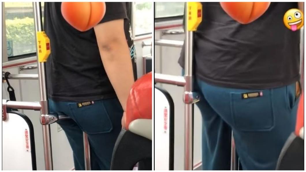 有女網友在公車上看到這一幕,事後直呼快吐了。(圖/翻攝自爆廢公社) 臀部有蟯蟲?男搭公車靠扶手 忘情狂扭磨股溝