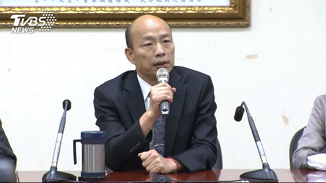 高雄市長韓國瑜在藍軍人氣超旺,不少基層支持者紛紛呼喚他出馬選2020總統大位。(圖/TVBS) 火力全開!韓國瑜再嗆「假韓粉」:我用X眼看這些癟三