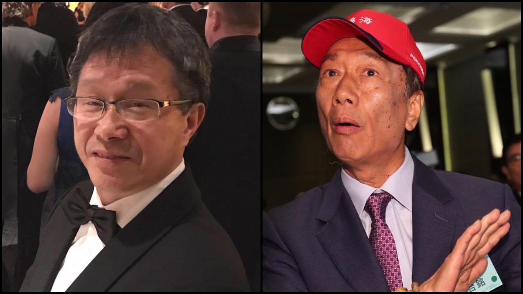 圖/TVBS資料照與翻攝謝志偉臉書 再嗆郭台銘!謝志偉:封鎖台灣的是您心中的「神洲」