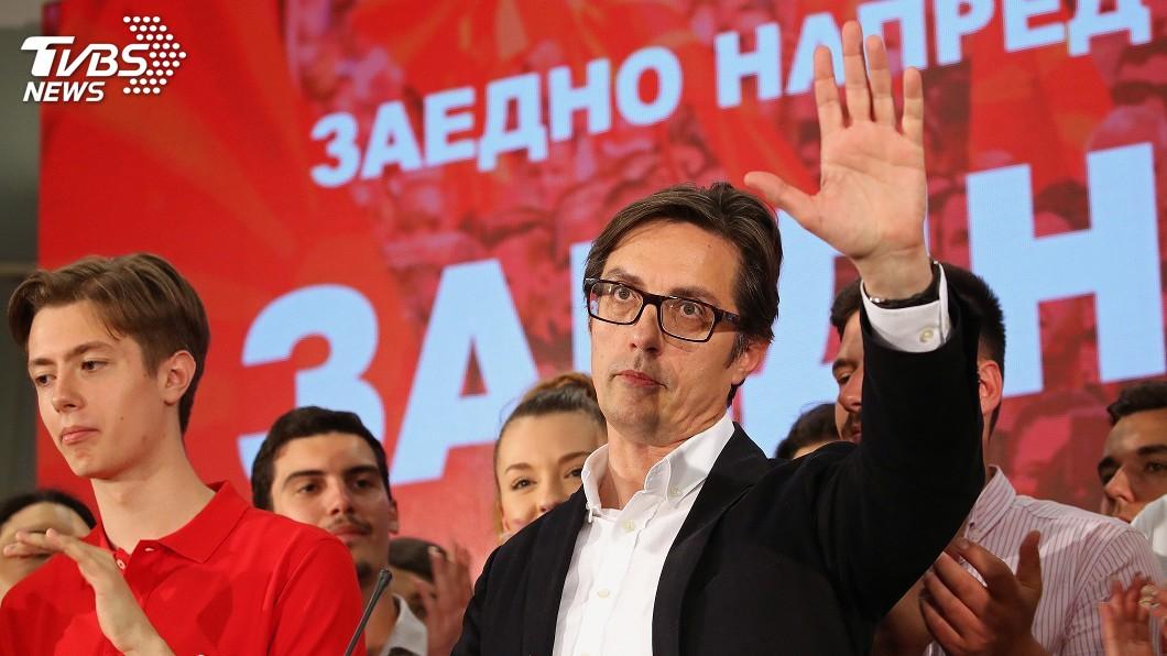 圖/達志影像路透社 北馬其頓總統大選 親西方候選人獲勝