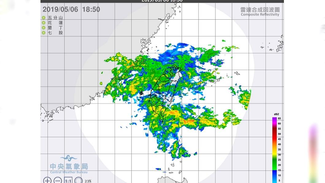 週四又有一波鋒面報到,將持續下雨到週五。圖/翻攝中央氣象局 持續降雨!週四又有新鋒面 週末天氣可望轉好