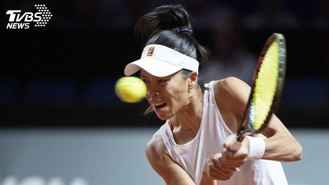 圖/達志影像美聯社 馬德里網球公開賽 謝淑薇女雙逆轉勝