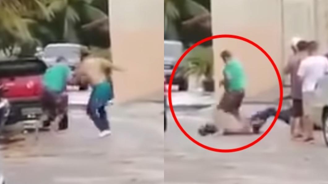 圖/翻攝自YouTube 驚悚畫面曝!37歲演員遭狂踹當街慘死 友人竟冷血觀戰