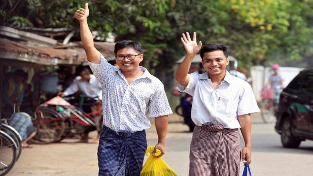 圖/達志影像路透 服刑五百多天 兩名路透社記者緬甸獲釋