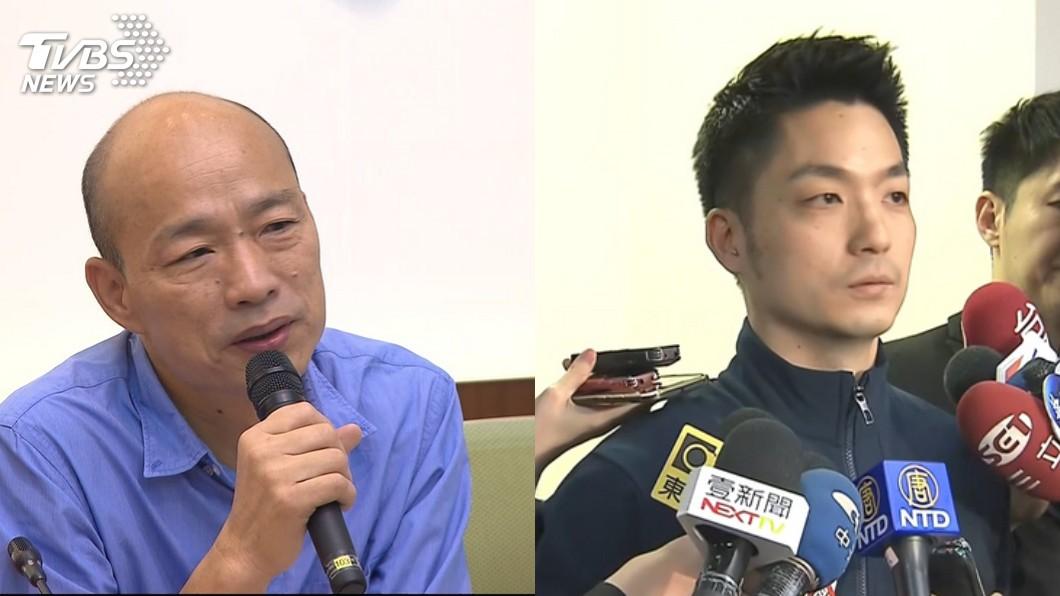 韓國瑜、蔣萬安。圖/TVBS資料畫面 被蔣萬安稱「支持者不理性」 韓國瑜僅回「這4字」