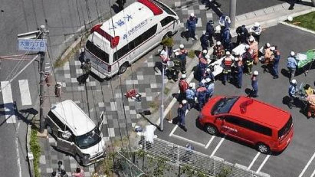 圖/翻攝自8視界新聞新加坡  日滋賀縣幼稚園遇死亡車禍 師生被撞2死14傷