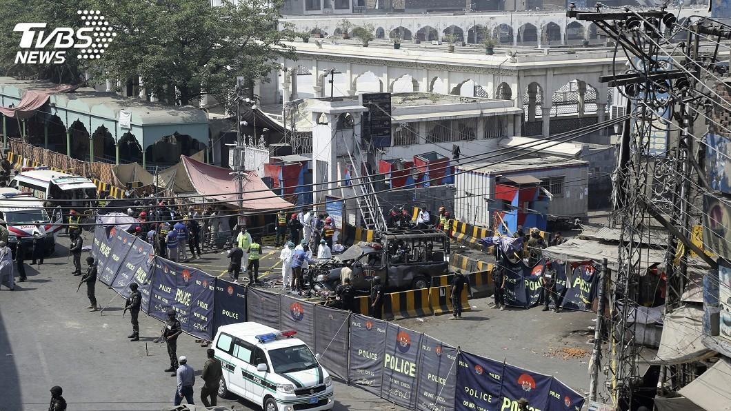 圖/達志影像美聯社 巴基斯坦東部蘇菲派聖殿爆炸 至少4死24傷