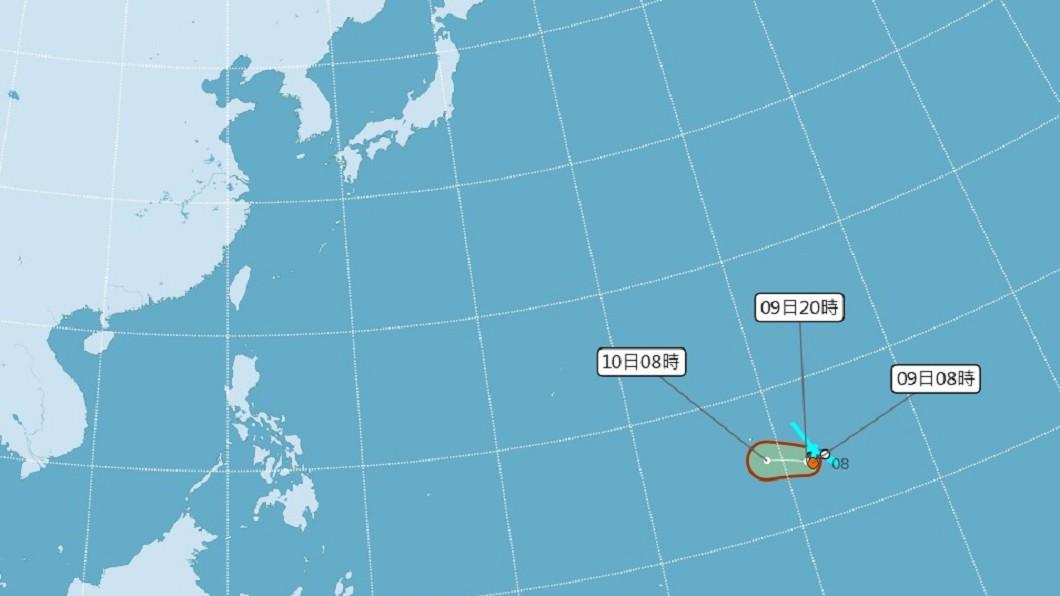 圖/中央氣象局 「5月颱」侵台機率低 專家:因西風帶尚未北撤