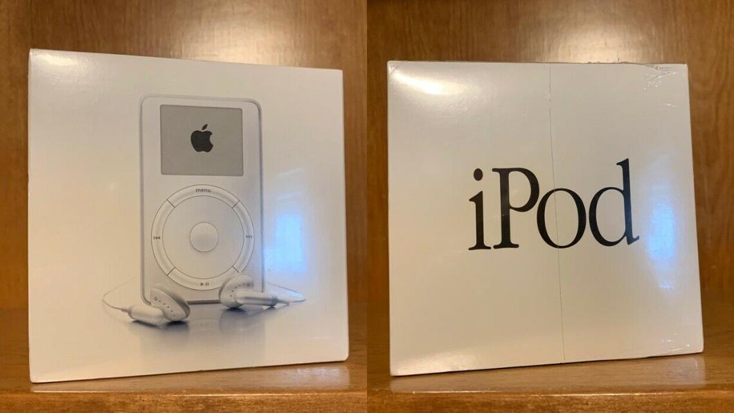 18年前的iPod竟然出現在eBay上。圖/翻攝自eBay 古董級!超完整初代iPod現身網拍 價格狂翻50倍