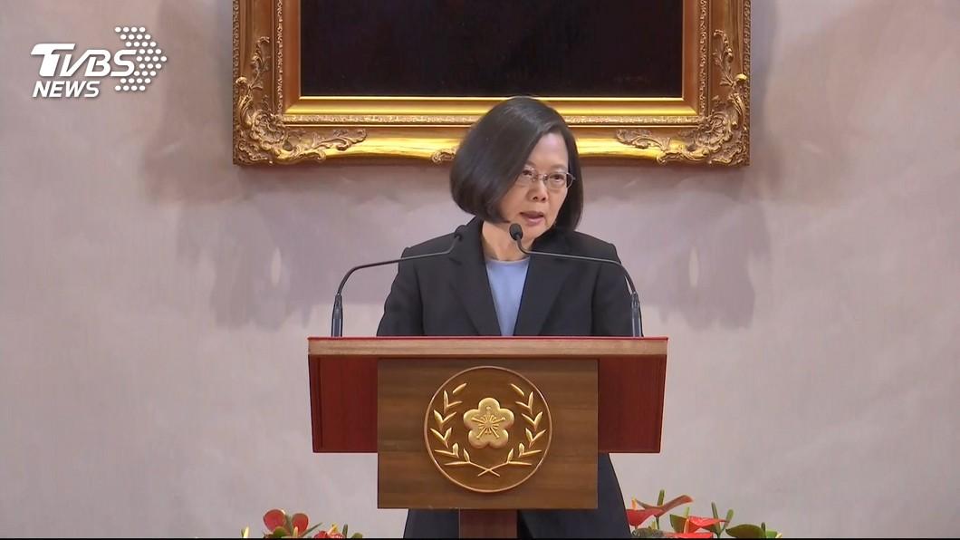 圖/TVBS 香港反送中激烈衝突 蔡總統:一定捍衛台灣民主