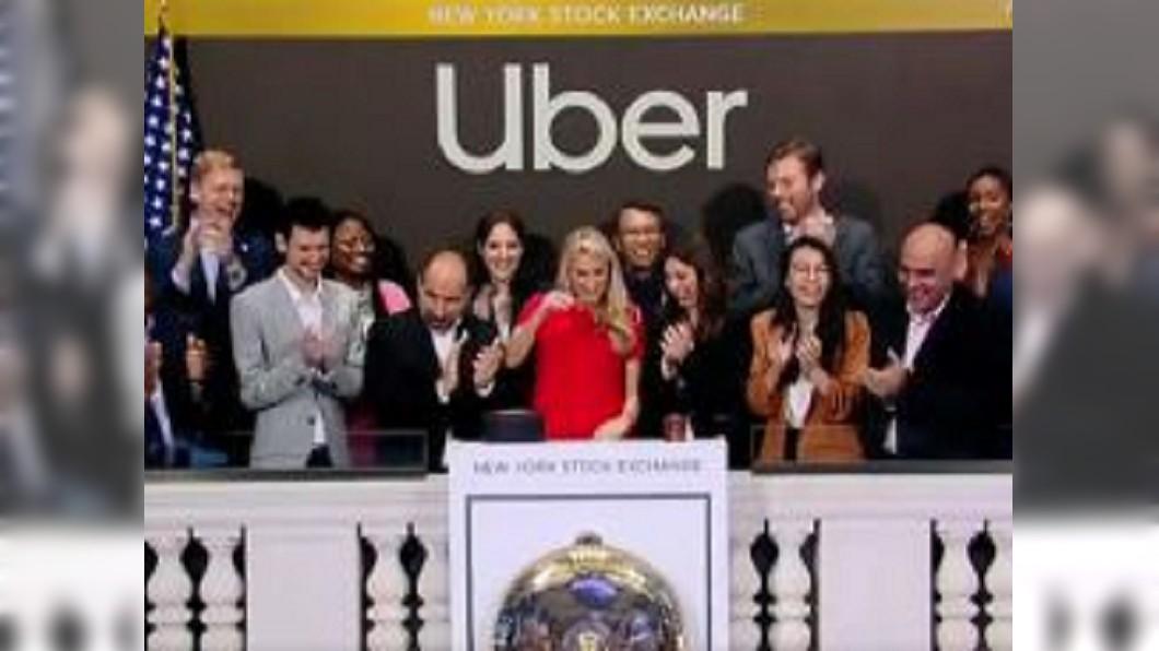 圖/翻攝自梨視頻微博 Uber風光上市 股價卻開低走低、跌幅7.6%