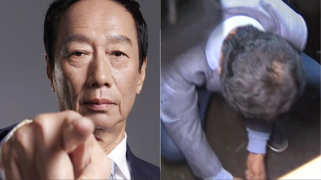 圖/翻攝自郭台銘臉書、TVBS 郭董「綁鞋帶」是國王的仁慈!記者:鞋子供起來或網拍