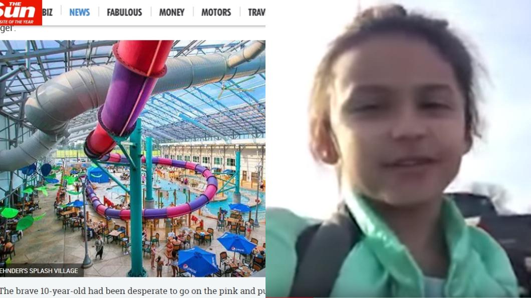 圖/翻攝自太陽報、YouTube 玩太嗨!10歲女童7秒「狂溜82公尺」 心臟驟停身亡
