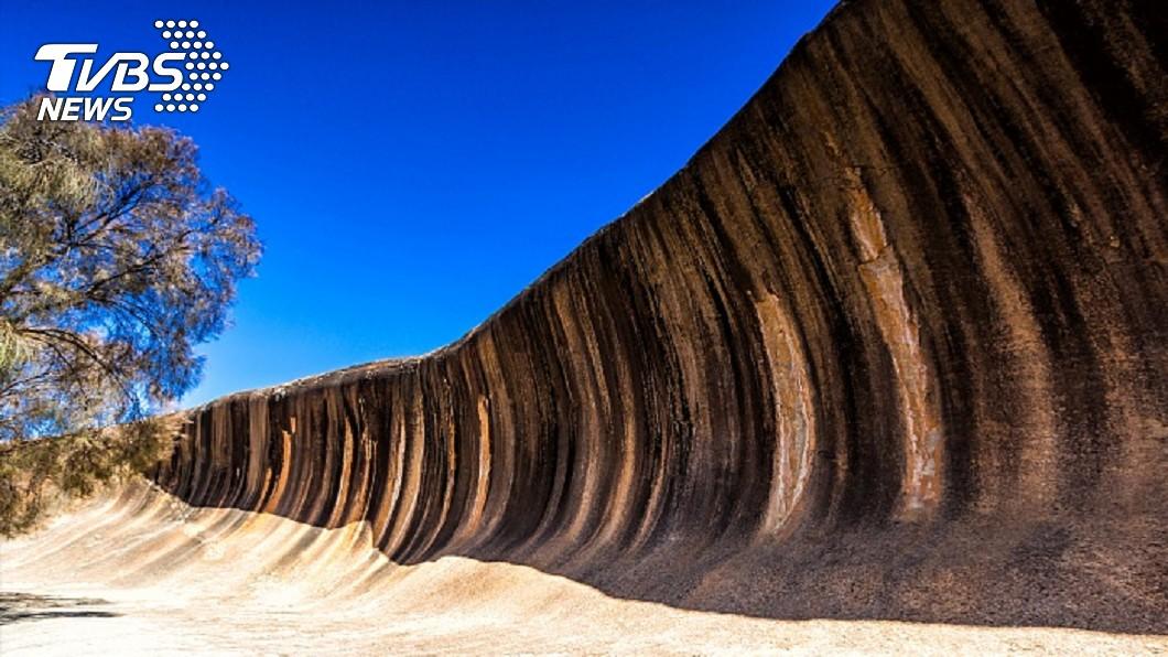 這片波浪岩在恐龍時代前就已經存在。圖/達志影像TPG