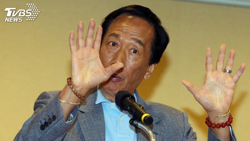 郭台銘自宣布參選總統,已達1個月。圖/中央社 參選滿月成績曝!郭董玩真的 接地氣狂吸30萬粉