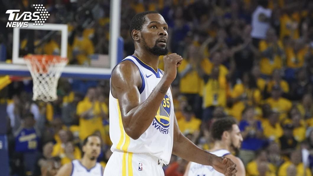 圖/達志影像路透社 NBA西區冠軍賽 杜蘭特腳傷首戰確定缺席