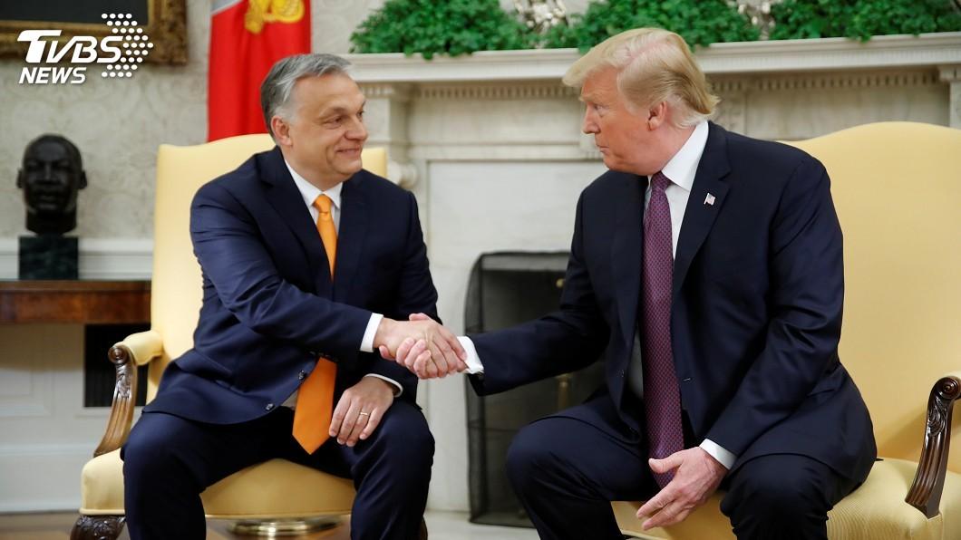 圖/達志影像路透社 接見反移民匈牙利總理 川普大讚執政表現優異