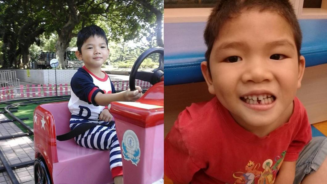 小兒子1歲時遭保母施虐,左半邊癱瘓、智力受損。圖/翻攝自 大甲卡車地瓜媽媽 臉書
