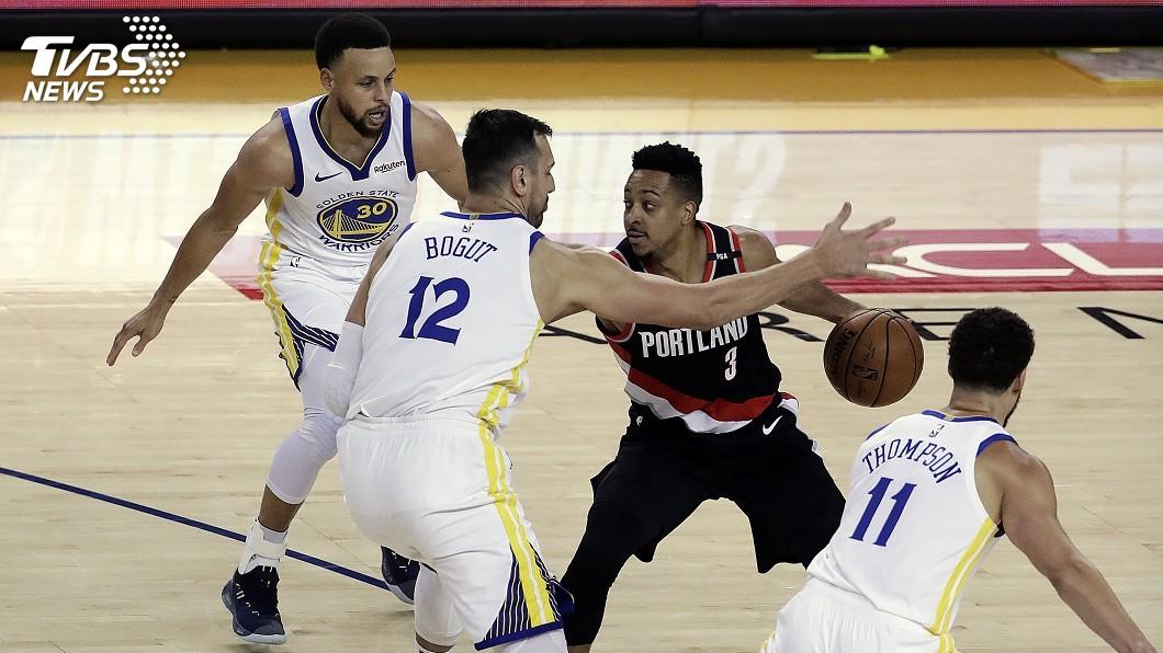 圖/達志影像美聯社 寫聯盟新紀錄! NBA勇士連12個系列賽先開胡