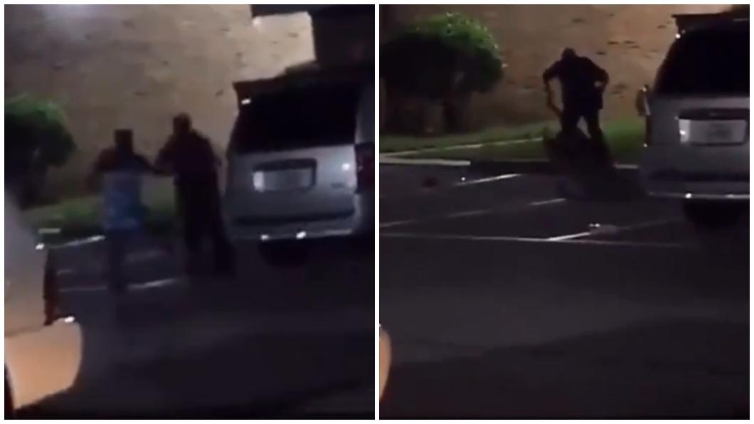 圖/翻攝推特 誇張!女喊「我懷孕了」拒上銬 警開5槍當街擊斃