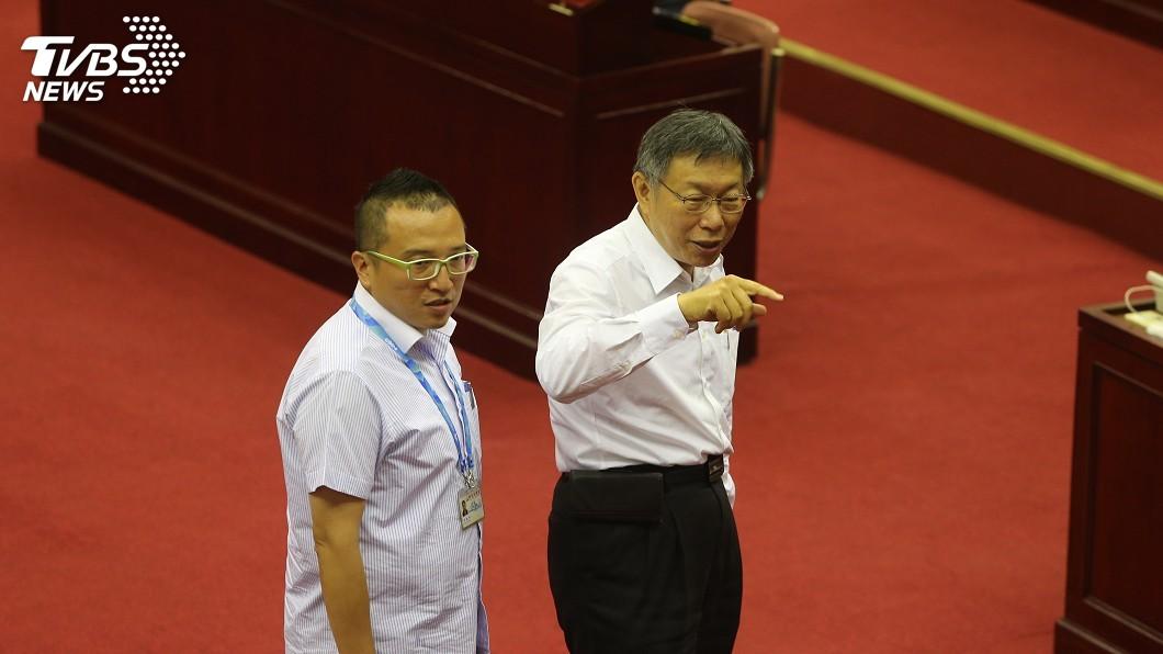 圖/中央社 議員比較韓國瑜表現 柯文哲:我們議員水準較高
