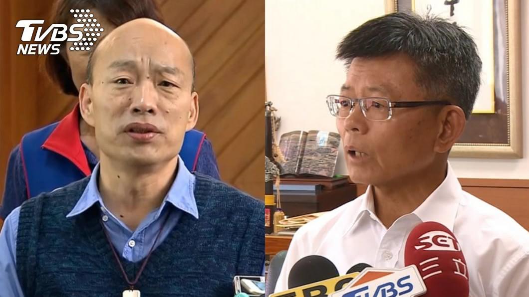 高雄市長韓國瑜(左)、前高雄縣長楊秋興(右)。圖/TVBS 挺韓變詐欺犯?楊秋興道歉了 韓國瑜回:朋友是永久的