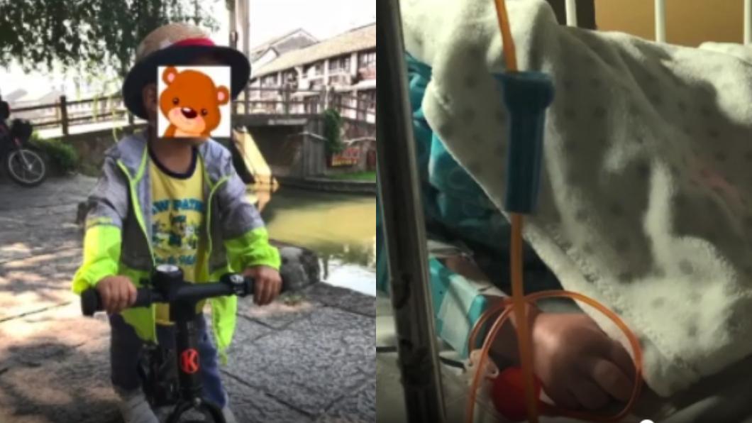 圖/翻攝自梨視頻 入住套房4個月…2歲兒竟罹白血病 母淚崩求業者道歉