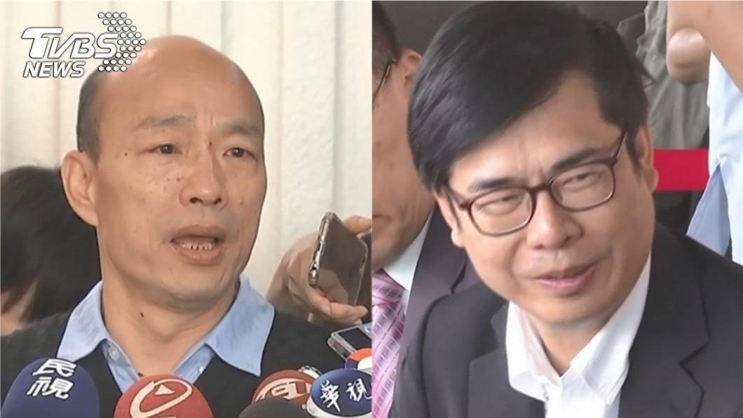 陳其邁(右)透露確認敗選後,在車上打電話給對手韓國瑜。(圖/TVBS資料畫面) 陳其邁落選後「打給韓國瑜」 2年前車上對話曝光