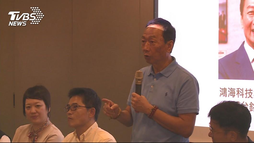 圖/TVBS 學生提問霸氣總裁 郭台銘:爭取大位會謹言慎行